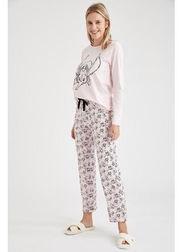 Defacto –Fit Dumbo Lisanslı Pijama Takımı Pembe